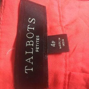 Talbots Pink and Orange Square Cutout Skirt